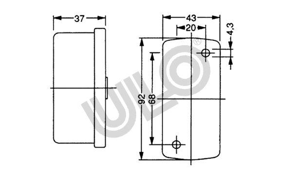Lampade posizione 3321-01 ULO — Solo ricambi nuovi