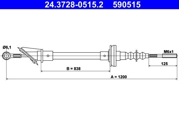 Original BMW Kupplungsseilzug 24.3728-0515.2