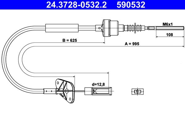 ATE: Original Kupplungsseil 24.3728-0532.2 ()