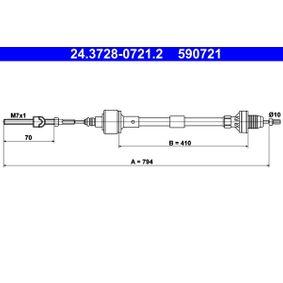Cablu ambreiaj ATE 24.3728-0721.2 cumpărați și înlocuiți