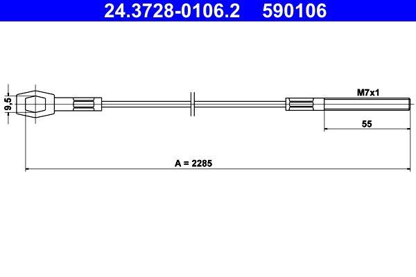Kupplungszug ATE 24.3728-0106.2