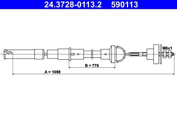 Kupplungsseilzug ATE 24.3728-0113.2