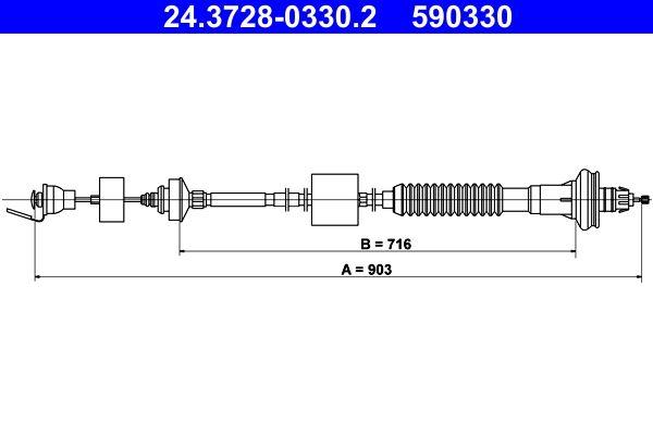 ATE Seilzug, Kupplungsbetätigung 24.3728-0330.2