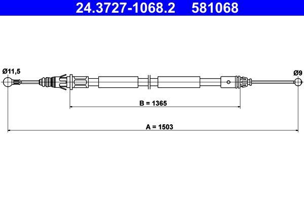 Handbremse ATE 24.3727-1068.2