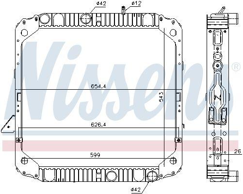NISSENS Kühler, Motorkühlung passend für MERCEDES-BENZ - Artikelnummer: 62743
