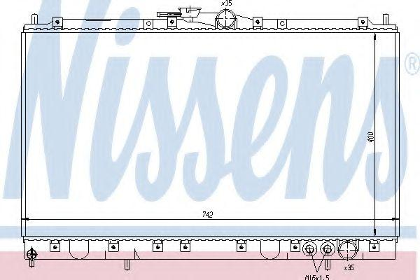 62861 NISSENS Kupfer, Kunststoff, Schaltgetriebe Netzmaße: 400 x 742 x 25 mm Kühler, Motorkühlung 62861 günstig kaufen
