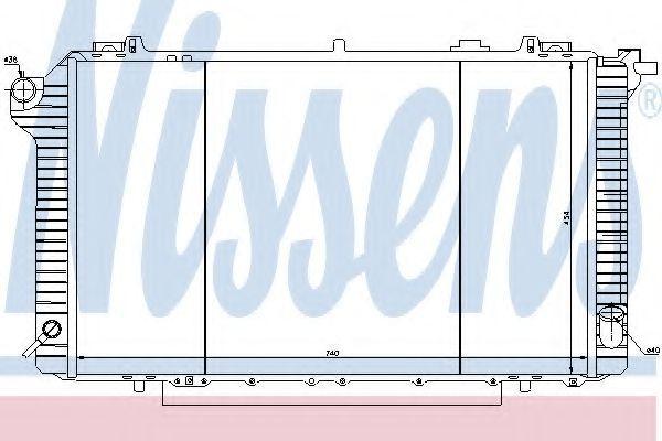62912 NISSENS Kupfer, Kunststoff, Schaltgetriebe Netzmaße: 740 x 454 x 34 mm Kühler, Motorkühlung 62912 günstig kaufen