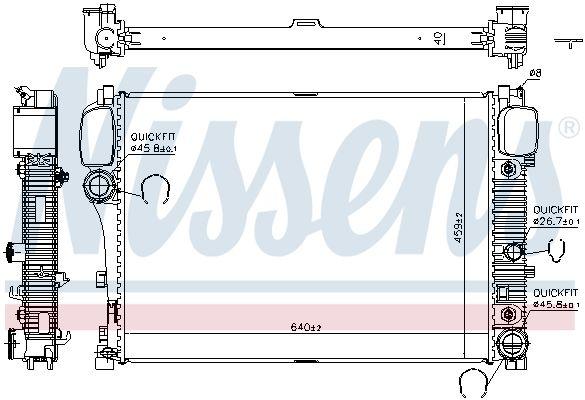 67107A Kühler Motorkühlung NISSENS in Original Qualität