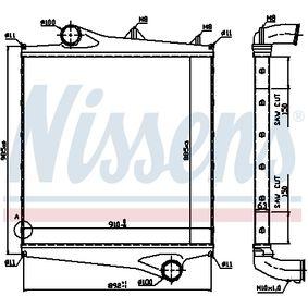 Ladeluftkühler NISSENS 96961 mit 15% Rabatt kaufen