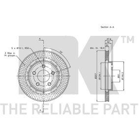 NK 209306 2 pièces Disque de frein