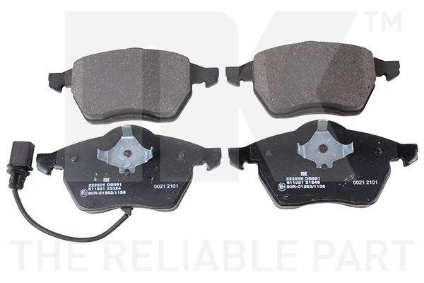 WVA23324195 NK mit integriertem Verschleißwarnkontakt, mit Anti-Quietsch-Blech, ohne Zubehör Höhe 1: 74,2mm, Höhe 2: 74,2mm, Breite 1: 156,5mm, Breite 2: 156,5mm, Dicke/Stärke 1: 19,6mm, Dicke/Stärke 2: 19,6mm Bremsbelagsatz, Scheibenbremse 222555 günstig kaufen