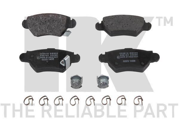 WVA23258 NK mit akustischer Verschleißwarnung, mit Anti-Quietsch-Blech, ohne Zubehör Höhe 1: 42,5mm, Breite 1: 104,7mm, Dicke/Stärke 1: 15,6mm Bremsbelagsatz, Scheibenbremse 223619 günstig kaufen