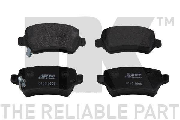 WVA23417152 NK mit akustischer Verschleißwarnung, ohne Zubehör Höhe 1: 42,8mm, Breite 1: 95,3mm, Dicke/Stärke 1: 15mm Bremsbelagsatz, Scheibenbremse 223625 günstig kaufen