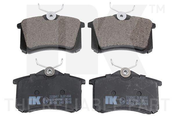 WVA20961170 NK mit Anti-Quietsch-Blech Höhe 1: 68mm, Breite 1: 87mm, Dicke/Stärke 1: 16,14mm Bremsbelagsatz, Scheibenbremse 223947 günstig kaufen