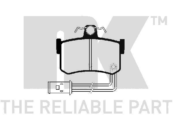 WVA20091145 NK inkl. Verschleißwarnkontakt Höhe 1: 62,2mm, Breite 1: 85,2mm, Dicke/Stärke 1: 14,5mm Bremsbelagsatz, Scheibenbremse 224003 günstig kaufen
