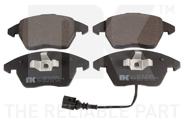 WVA23587203 NK mit integriertem Verschleißwarnkontakt, mit Anti-Quietsch-Blech, ohne Zubehör Höhe 1: 66mm, Höhe 2: 71,5mm, Breite 1: 155,2mm, Breite 2: 156,5mm, Dicke/Stärke 1: 19,3mm, Dicke/Stärke 2: 19,3mm Bremsbelagsatz, Scheibenbremse 224770 günstig kaufen