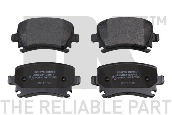 WVA2391417 NK für Verschleißwarnanzeiger vorbereitet, mit Anti-Quietsch-Blech, ohne Zubehör Höhe 1: 55,9mm, Breite 1: 105,7mm, Dicke/Stärke 1: 17,2mm Bremsbelagsatz, Scheibenbremse 224775 günstig kaufen