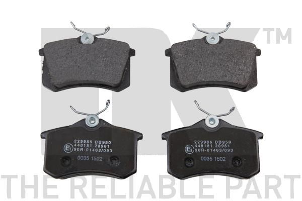 NK: Original Bremssteine 229986 (Höhe 1: 68,5mm, Breite 1: 87,1mm, Dicke/Stärke 1: 17mm)