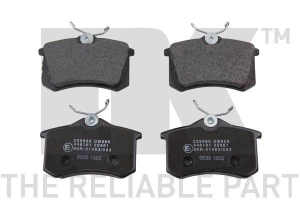 NK: Original Bremsbelagsatz Scheibenbremse 229986 (Höhe 1: 68,5mm, Breite 1: 87,1mm, Dicke/Stärke 1: 17mm)