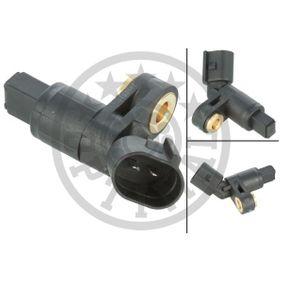 Vorderachse rechts ABS Sensor Drehzahlfühler Raddrehzahlfühler OPTIMAL 06-S046