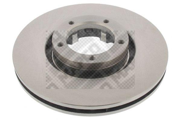 Купете 15823 MAPCO предна ос, вентилиран Ø: 254мм, брой на дупките: 5, дебелина на спирачния диск: 24,2мм Спирачен диск 15823 евтино