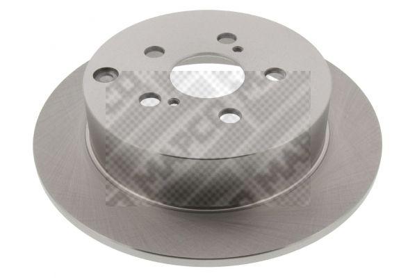 25564 MAPCO Hinterachse, Voll Ø: 268,7mm, Lochanzahl: 5, Bremsscheibendicke: 9mm Bremsscheibe 25564 günstig kaufen