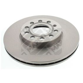 25830 MAPCO Front Axle, Vented Ø: 288mm, Num. of holes: 5, Brake Disc Thickness: 25mm Brake Disc 25830 cheap