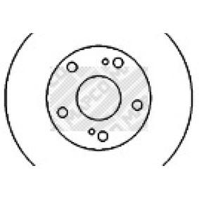 45516 MAPCO belüftet Ø: 280mm, Lochanzahl: 5, Bremsscheibendicke: 26mm Bremsscheibe 45516 günstig kaufen