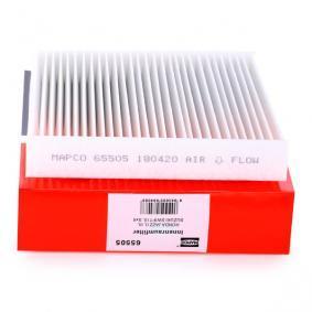 Filtro, ar do habitáculo 65505 HONDA JAZZ com um desconto - compre agora!