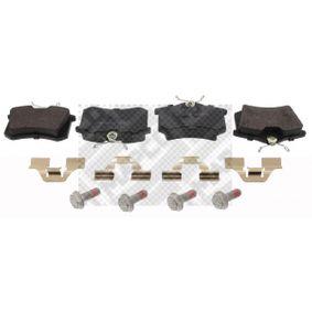 209611520 MAPCO Hinterachse, exkl. Verschleißwarnkontakt Höhe: 52,9mm, Breite: 87,6mm, Dicke/Stärke: 17mm Bremsbelagsatz, Scheibenbremse 6579 günstig kaufen
