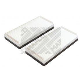 65806 MAPCO Pollenfilter Breite: 118mm, Höhe: 40mm, Länge: 258mm Filter, Innenraumluft 65806 günstig kaufen