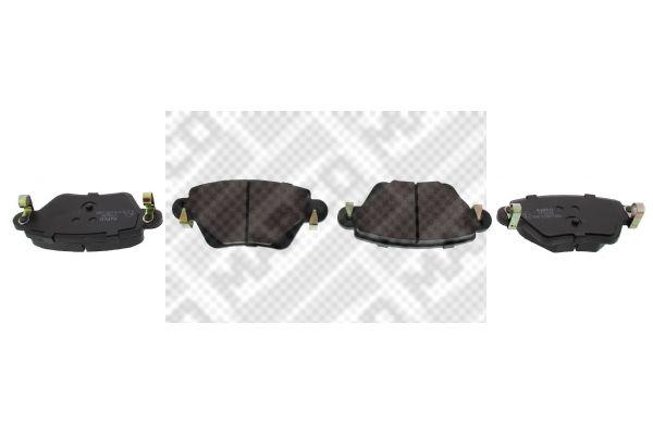 77700 MAPCO Hinterachse, mit akustischer Verschleißwarnung Höhe: 52mm, Breite: 115,7mm, Dicke/Stärke: 16,8mm Bremsbelagsatz, Scheibenbremse 6602 günstig kaufen