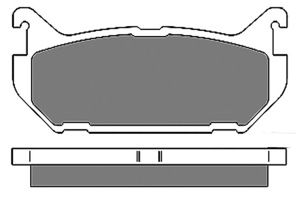 Original FORD USA Scheibenbremsbeläge 6656
