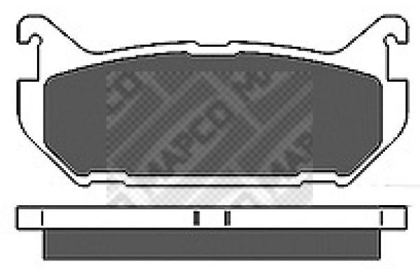 Original FORD USA Bremsbelagsatz Scheibenbremse 6656