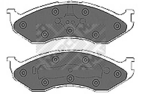 JEEP COMANCHE 1989 Bremsbelagsatz - Original MAPCO 6692 Höhe: 54,9mm, Breite: 177mm, Dicke/Stärke: 17,2mm