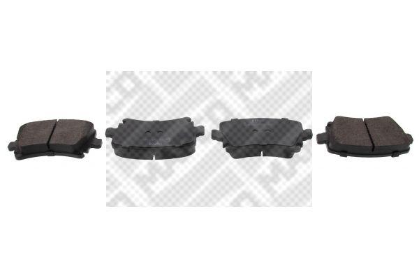 6696 MAPCO Hinterachse, für Verschleißwarnanzeiger vorbereitet, mit Anti-Quietsch-Blech Höhe: 55,9mm, Breite: 105,5mm, Dicke/Stärke: 17,1mm Bremsbelagsatz, Scheibenbremse 6696 günstig kaufen
