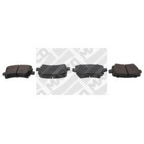 6696 MAPCO Hinterachse, für Verschleißwarnanzeiger vorbereitet, mit Anti-Quietsch-Blech Höhe: 56mm, Breite: 106mm, Dicke/Stärke: 17mm Bremsbelagsatz, Scheibenbremse 6696 günstig kaufen