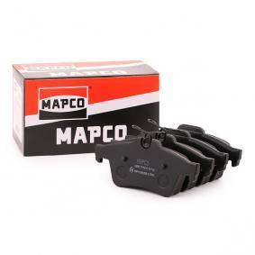 6698 MAPCO Hinterachse, exkl. Verschleißwarnkontakt, mit Anti-Quietsch-Blech Höhe: 52mm, Breite: 123mm, Dicke/Stärke: 17mm Bremsbelagsatz, Scheibenbremse 6698 günstig kaufen