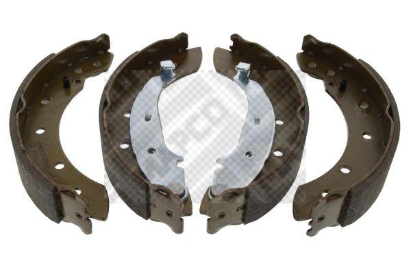 8128 MAPCO Hinterachse Breite: 38mm Bremsbackensatz 8128 günstig kaufen