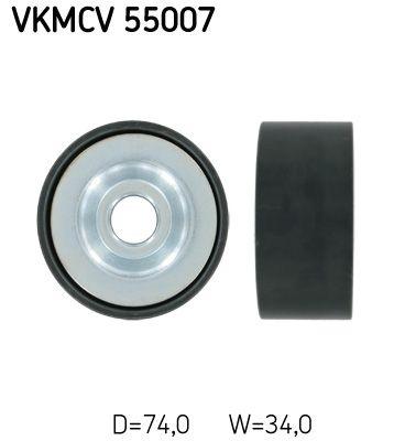 Poulie renvoi / transmission, courroie trapézoïdale à nervures SKF pour BMC, n° d'article VKMCV 55007