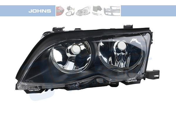 BMW 3er 2018 Scheinwerfer Set - Original JOHNS 20 08 09-2 Fahrzeugausstattung: für Fahrzeuge mit Leuchtweiteregelung (elektrisch), Rahmenfarbe: schwarz