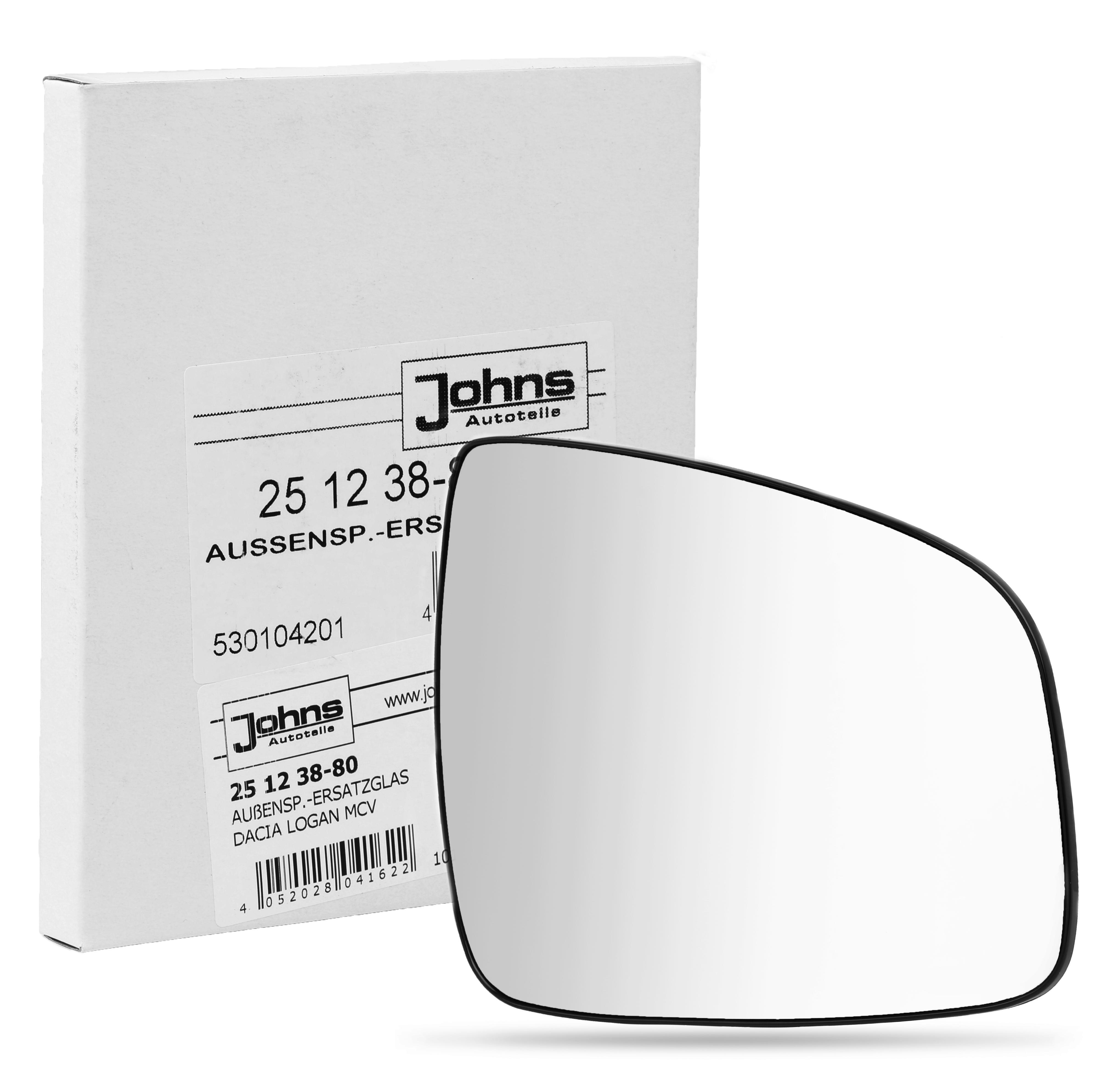 Vetro specchio 25 12 38-80 JOHNS — Solo ricambi nuovi