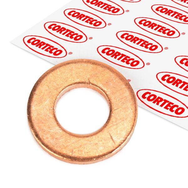 FORD MONDEO 2014 Ölablaßschraube Dichtung - Original CORTECO 005696H Dicke/Stärke: 2mm, Ø: 20,5mm, Innendurchmesser: 10,2mm