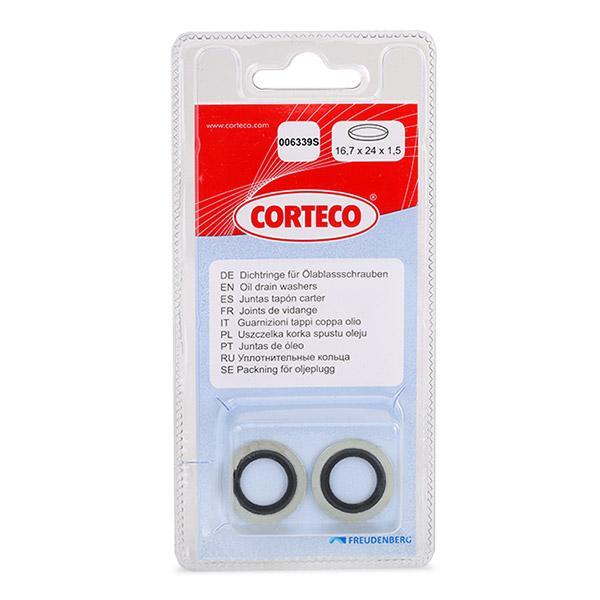 Acheter Vis bouchon carter d'huile Épaisseur: 1,5mm, Ø: 24mm, Diamètre intérieur: 16,7mm CORTECO 006339S à tout moment