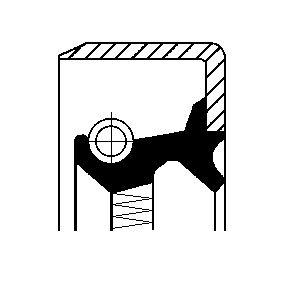 Pierscień uszczelniający wału, piasta koła CORTECO 01019283B kupić i wymienić