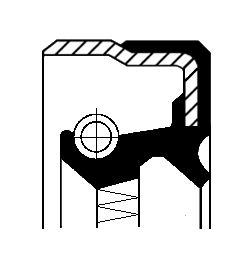 MERCEDES-BENZ SLK Verteilergetriebe Einzelteile - Original CORTECO 01029680B