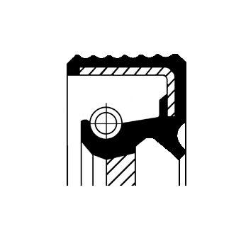 CORTECO: Original Wellendichtring, Schaltgetriebe 01034079B ()