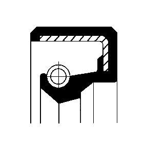 Kúpte a vymeňte Tesniaci krúżok hriadeľa manuálnej prevodovky CORTECO 12000135B