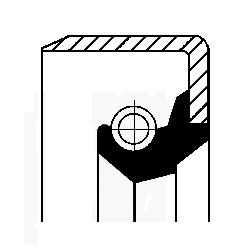 CORTECO Wellendichtring, Kurbelwelle stirnseitig, NBR (Nitril-Butadien-Kautschuk) 12011544B APRILIA