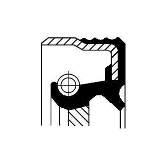 OPEL SENATOR 1987 Wellendichtring Kurbelwelle - Original CORTECO 12013857B